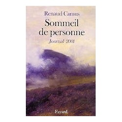 Sommeil de personne (Journal 2001)