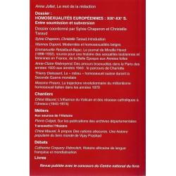 Cahiers d'histoire: homosexualités européennes, XIXe-XXe siècle