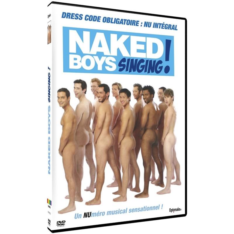 Naked boy singing