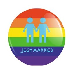 Badge Just married Gay
