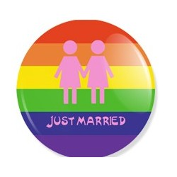 Badge Just married Lesbien