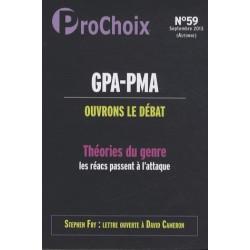 Prochoix n°59 : GPA-PMA : Ouvrons le débat. Théories du genre : les réacs passent à l'attaque